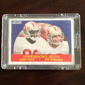 Rare Joe Montana/Jerry Rice SB MVP card
